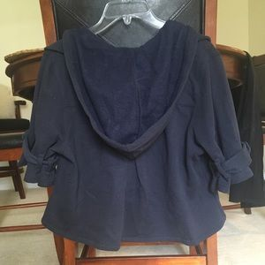 Victoria Secret navy crop sweatshirt jacket